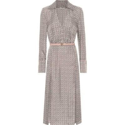 フェンディ Fendi レディース ワンピース ミドル丈 ワンピース・ドレス Printed silk midi dress Art Nouveau