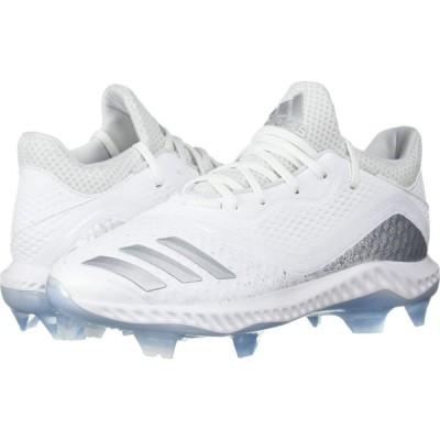 アディダス adidas レディース 野球 シューズ・靴 Icon V Bounce TPU Footwear White/Silver Metallic/Glow Blue