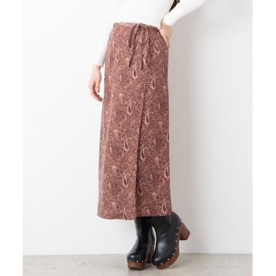 ペイズリーラップスカート