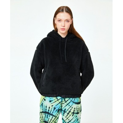 PIPING HOT FUTURE / L/S OVERSIZE TEDDY HOODIE WOMEN トップス > パーカー