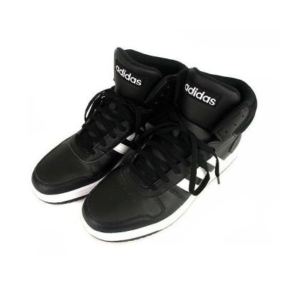 【中古】アディダス adidas ADIHOOPS MID 2.0 アディフープス スニーカー シューズ 靴 ミッドカット BB7207 黒 ブラック 28.5cm メンズ 【ベクトル 古着】