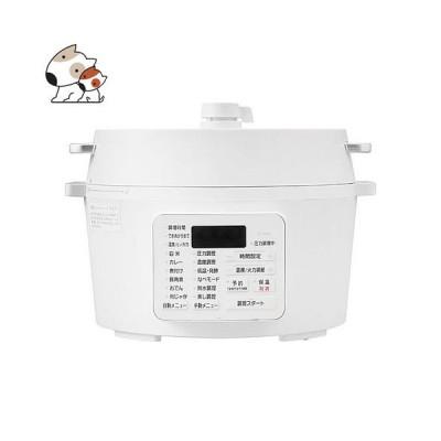 アイリスオーヤマ 電気圧力鍋 4.0L ホワイト PC-MA4-W 圧力なべ グリル鍋 炊飯器 玄米 電気鍋 炊飯ジャー 簡単 時短 保温 タイマー機能 1000W レシピブック付