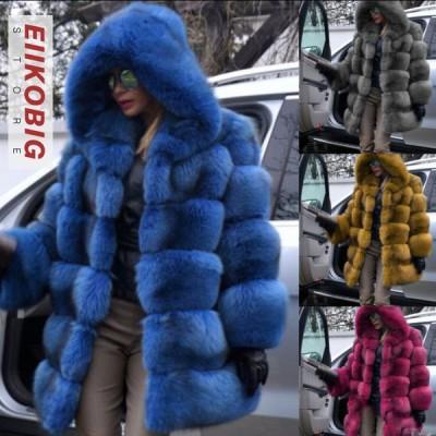 秋冬 レディース ファーコート 毛皮コート おしゃれ  レディースコート フェイクファー アウター ジャケット 暖かい OL 通勤 レディースアウター