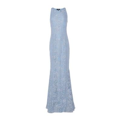DIVEDIVINE ロングワンピース&ドレス アジュールブルー 44 コットン 72% / ナイロン 28% ロングワンピース&ドレス