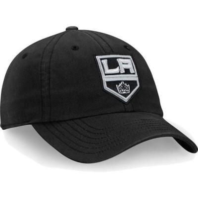 ファナティクス メンズ 帽子 アクセサリー NHL Men's Los Angeles Kings Core Black Adjustable Hat