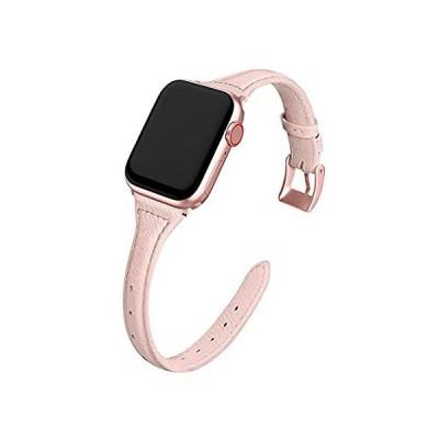 MARGE PLUS Apple Watchバンド ケース付き 44mm 42mm レディース スリム本革 時計ベルト ソフトTPU保護ケース付き i