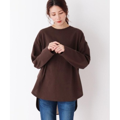 (SHOO・LA・RUE/シューラルー)【M-LL】空紡糸バックスリットリボンプル/レディース ブラウン(042)