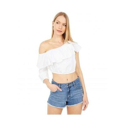BCBGeneration ビーシービーゲネレーション レディース 女性用 ファッション ブラウス Ruffle Neck Single Sleeve Woven Top SB1SX5T07 - Off-White