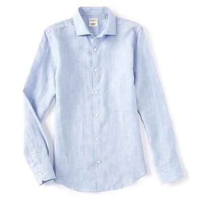 ムラノ メンズ シャツ トップス Slim-Fit Solid Baird McNutt Linen Long-Sleeve Woven Shirt