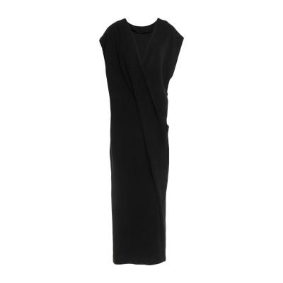 POIRET 7分丈ワンピース・ドレス ブラック 34 ポリエチレン 100% 7分丈ワンピース・ドレス