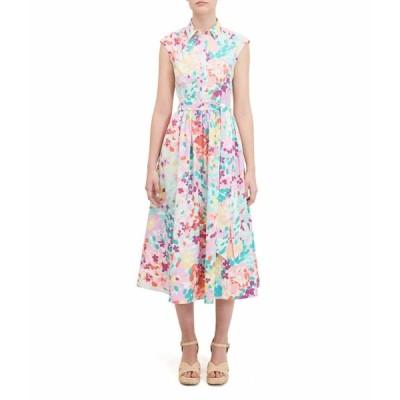 ケイト スペード ワンピース トップス レディース Painted Petals Shirtdress Cream