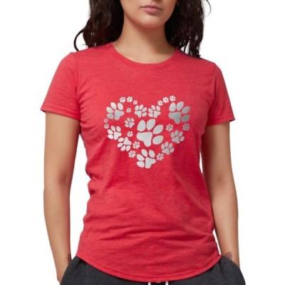 レディース 衣類 トップス CafePress - Paws Heart T Shirt - Womens Tri-blend T-Shirt グラフィックティー