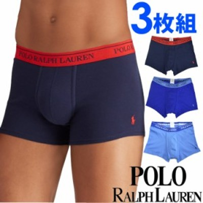[送料無料] POLO RALPH LAUREN ポロ ラルフローレン メンズ クラシックフィット コットン ボクサーパンツ 3枚セット ネイビー ブルー ラ