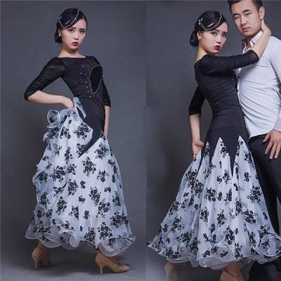 社交ダンススカート(単品) ダンス 衣装 スカート 大きい裾 ステージ S~3XL 社交ダンス 練習着 舞台 競技着 練習服 イエロー