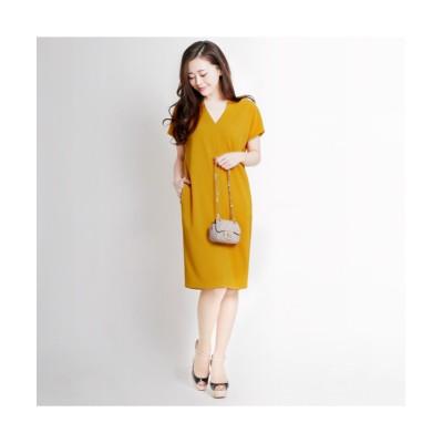 MARTHA(マーサ) ショートスリーブVネックワンピース (ワンピース)Dress