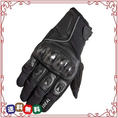 山城(yamashiro) IDEAL バイク用 グローブ ID-006 FACTOR(ファクター) ブラック Mサイズ ID006/BK/M