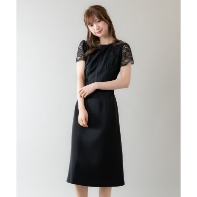 ドレス レース切り替えドレス(9R04-05046)