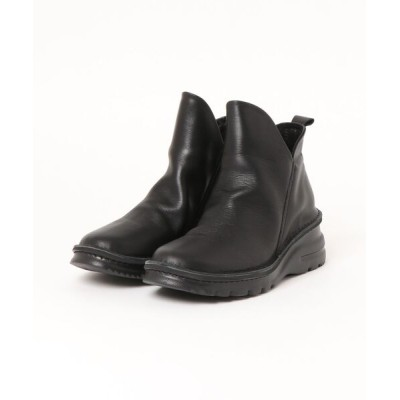 UNBILLION / マルメロ marmelo / 牛革サイドスリットショートブーツ WOMEN シューズ > ブーツ