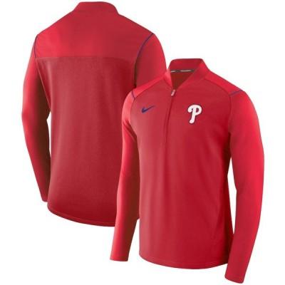 フィラデルフィア・フィリーズ Nike Elite Performance Half-Zip Pullover ジャケット - Red