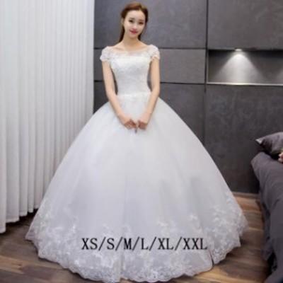 ドレス ウエディングドレス パ一ティ一ドレス 二次会 白 刺繍 スレンダー ハイウエスト ロング丈 レース 披露宴 女性 きれいめ 結婚式
