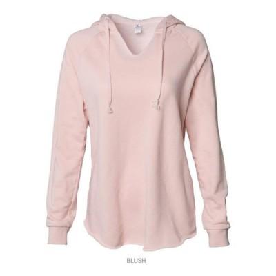 レディース 衣類 トップス Independent Trading Co. - Women's Lightweight California Wave Wash Hooded Sweatshirt Independent Trading Co. - NI