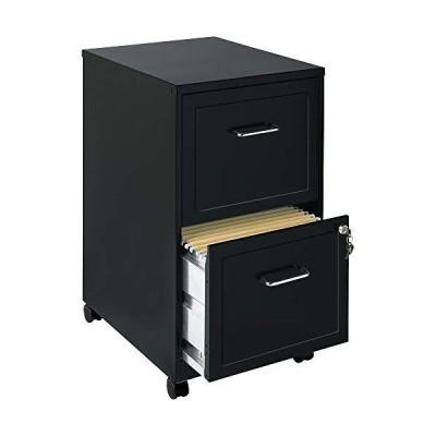 新品Lorell SOHO Mobile 2 Drawer File Cabinet in Black送料無料
