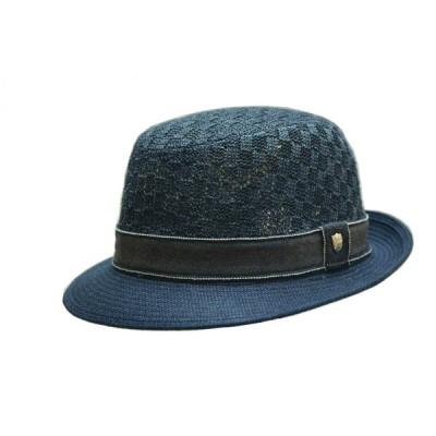 ハット メンズ ジェノバ アルペンハット ダックス DAKS 春夏 リネン×近江麻 麻100% ネイビー ベージュ 父の日 バッケタブル 日本製 紳士帽子 男性用 D1484