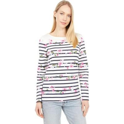 ジュールズ Joules レディース トップス Long Sleeve Jersey Top Cream Floral Stripe