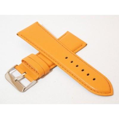 スペイン Diloy(ディロイ) 28mm 牛革カーフ素材 プレーンタイプ時計ベルト オレンジ 尾錠色シルバー 時計バンド 302.28.12.W