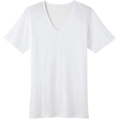[グンゼ] インナーシャツ 背中極メッシュ Vネック WJ1915H メンズ ホワイト 日本 M (日本サイズM相当)