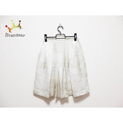 カルバンクライン CalvinKlein スカート サイズ2 M レディース 白×ベージュ       スペシャル特価 20201004