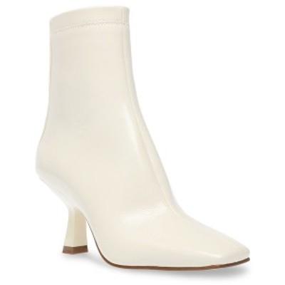 スティーブ マデン レディース ブーツ&レインブーツ シューズ Women's Joan Kitten-Heel Booties Bone Patent