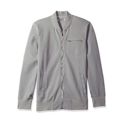 2?(X) istメンズモダンクラシックトラックジャケット カラ グレイ