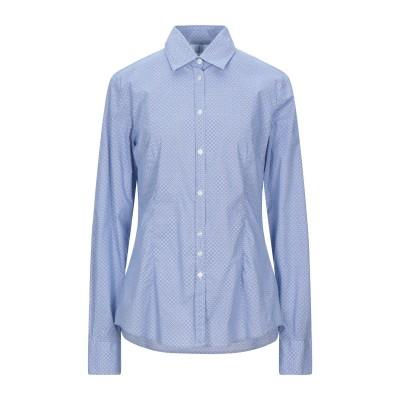 エティケッタ 35 ETICHETTA 35 シャツ ブルー 46 コットン 97% / ポリウレタン 3% シャツ