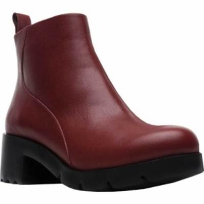 カンペール Camper レディース ブーツ ショートブーツ シューズ・靴 Wanda Zip Ankle Bootie Red Brown Calfskin