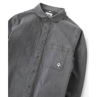 シャツ ブラウス ストレッチヘリンボーン スナップボタン シャツジャケット