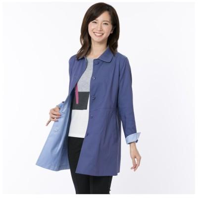 【ロブジェ】 花粉ガード素材のステンカラーコート レディース ブルー M LOBJIE