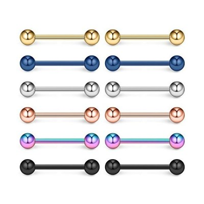 Ruifan Mix Color 316L Stainless Steel Nipple Shield Barbell Ring Bar Body P