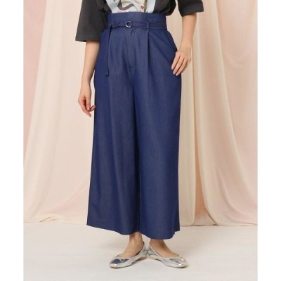 Couture Brooch / クチュールブローチ 【WEB限定サイズ(LL)あり/洗える】シャンブレーワイドパンツ