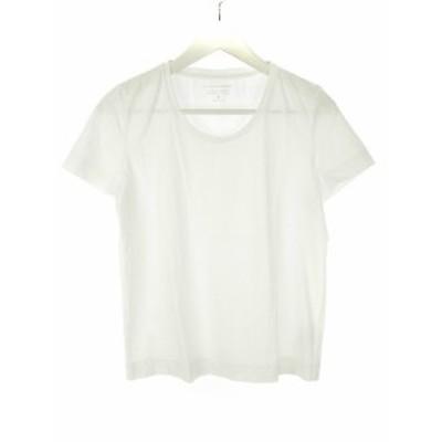 【中古】ヒューマンウーマン HUMAN WOMAN Tシャツ カットソー M 半袖 白系 オフホワイト トップス レディース