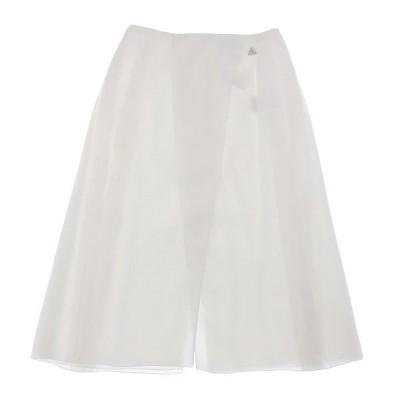 シャネル CHANEL スリット スカート 白 size38 Y00321