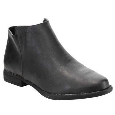 ブーツ シューズ 靴 海外厳選ブランド BAMBOO レディース Low Chunky Stacked ヒール アンクルブーティーs PRIMETIME-13S-JP BLACK PU