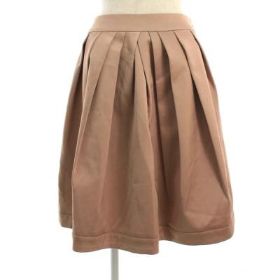 エムプルミエブラック スカート デザインタック フレア 38
