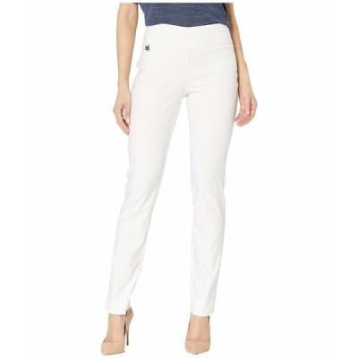 リセットエルモントリオール カジュアルパンツ ボトムス レディース Solid Magical Lycra Slim Pants White