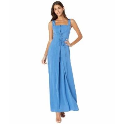 BCBジェネレーション レディース ワンピース トップス Lace-Up Maxi Dress TRP6269171 Bright Cobalt