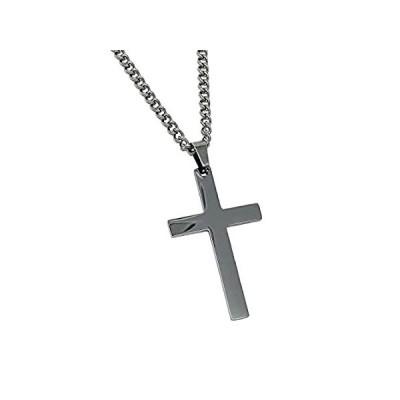 送料無料!Cross Pendant with Chain Necklace - Stainless Steel - (SMALL - 30MM PENDANT