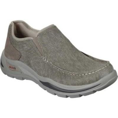 スケッチャーズ Skechers メンズ スリッポン・フラット シューズ・靴 Arch Fit Motley Rolens Slip On Tan