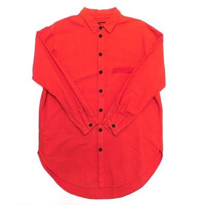 【1月25日値下】69 16AW STEVE SHIRT カラーデニムシャツ レッド サイズ:M/L (池袋店)