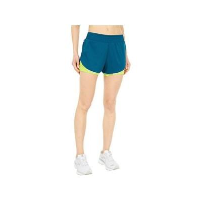 """ブルックス Rep 3"""""""" 2-In-1 Shorts レディース ショートパンツ ズボン 半ズボン Heather Deep Sea/Arctic"""