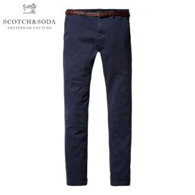 スコッチアンドソーダ SCOTCH&SODA メンズ チノ SLIM FIT GARMENT DYED COTTON ELASTAN CHINO 80001 57